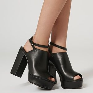 Topshop platforms with ankle wrap